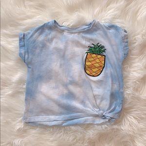 Zara Girl Pineapple Crop top